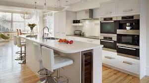 open plan linear kitchen from harvey jones