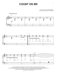 Count On Me Bruno Mars Piano Pdf Count On Me Sheet Direct