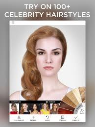 how to see yourself in a different hair color virtual makeover on the app store