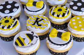 bumble bee cupcakes to bee baby shower a to zebra celebrations