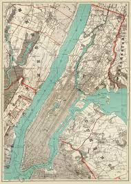 New York City Map Of Manhattan by New York City Map 1890 Map Of New York Newark Brooklyn Vintage