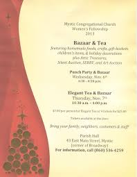 women u0027s fellowship elegant tea u0026 bazaar mystic congregational church