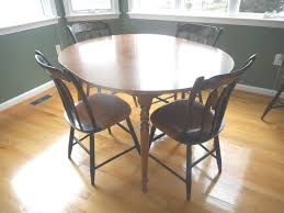 Ethan Allen American Tradition Maple Round Table W Leaf - Ethan allen drop leaf dining room table