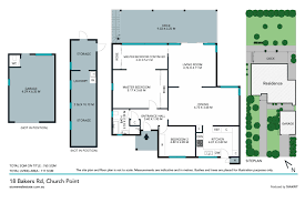 The Panorama Floor Plan by 18 Bakers Road Church Point 2105 Nsw Stone Real Estate
