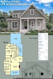 plan 51744hz narrow 4 bed country cottage with carport in back