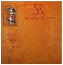 hindu wedding card wedding card with modern radha krishna design in orange