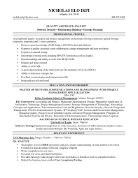 Agile Testing Resume Sample by Qa Analyst Resume Berathen Com