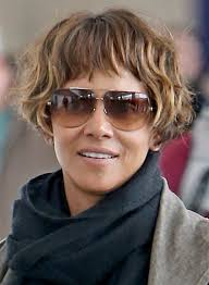 pics of new short bob haircuts on jordan dunn and lilly collins halle berry s new short hairstyle is a bowl cut