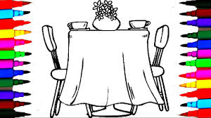 coloring pages dining room l furniture drawing pages to color for