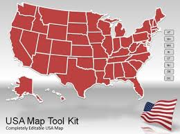 free editable us map template us map powerpoint template best