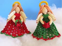 little angels christmas ornaments knitting bee