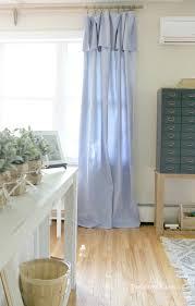 diy no sew drop cloth curtains and a cheap curtain rod hack