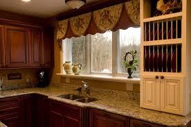 Stylish Kitchen Curtains by Kitchen Dressy Brown Detailed Curtains For Kitchen Window