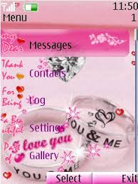 themes java love free download animated pink love for java app