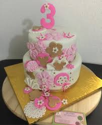 minnie mouse birthday cake pink white and gold unique design