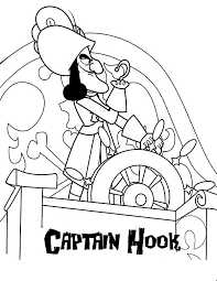 90 pirate coloring pages hook captain hook pirates