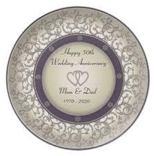 50th wedding anniversary plates happy 50th anniversary plates zazzle