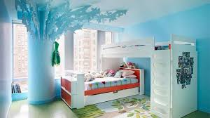Bedroom  Outstanding Wall Painting Design For Bedroom With Blue - Cool kids bedroom theme ideas