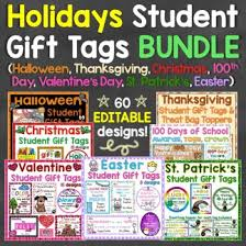 student gift ideas tags for holidays throughout the year
