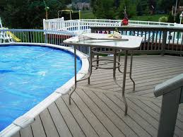 decks designs pool deck tile design ideas the spa like pool deck