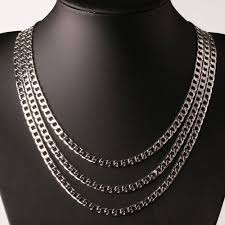 long necklace men images 100pcs fashion 4mm silver chain men necklace 16 to 30 inches long jpg