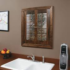 interior wood shutters home depot homebasics traditional wood walnut interior shutter price