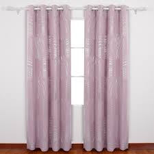 Deconovo Shimmering Circle Print Curtains Grommet Curtains - Room darkening curtains for kids