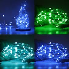 sanniu led string lights battery powered multi color changing
