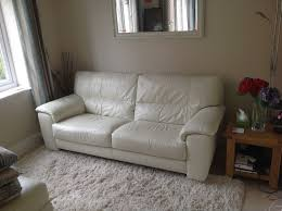 3 Seater Cream Leather Sofa Leather Sofa In Soft Cream Leather Made By Furniture Village As