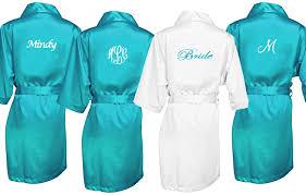 and bridesmaid robes bridal robes embroidered advantagebridal