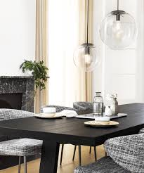 Beacon Lighting Pendant Lights Marcel 300mm Pendant In Clear Black Modern Pendants Pendant