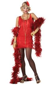 1920s Halloween Costume Fashion Flapper 1920 U0027s Halloween Costume Red