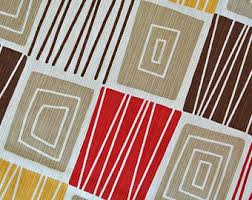 Curtains With Red Abstract Curtains Etsy