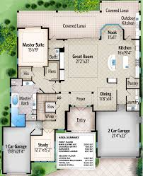 covered lanai 4 bed master down luxury home plan 86005bw architectural