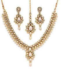 bridal set necklace earring images Bindhani indian bollywood gold plated kundan bridal jpg