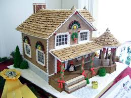 all sizes gingerbread house with big porch gingerbread