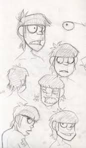 g murdoc sketches by lillyon on deviantart