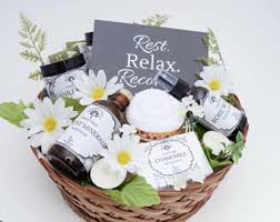 thinking of you gift baskets get well basket etsy