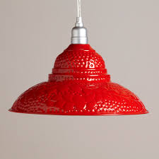 Best Light Red Wall Paint by Red Punched Metal Pendant World Market For Over Sink Could