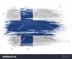 Finnish Flag Suomi Finland Finnish Flag On White Stock Photo 131330525