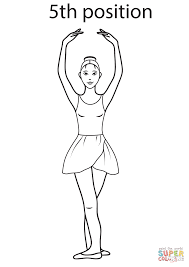 ballet 5th position coloring page free printable coloring pages