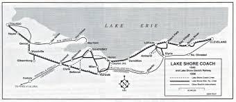 Elyria Ohio Map by Lake Shore Coach Co Lake Shore Rail Maps