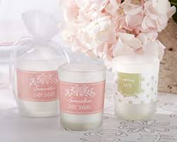 baby shower candle favors personalized frosted glass votive rustic baby shower candle