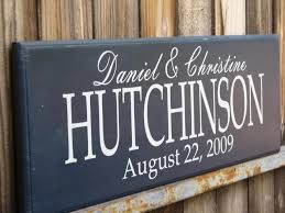 wedding gift name sign personalized family name signs bridal shower gift last name signs