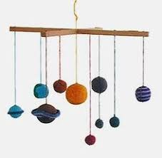 Solar System Planets Mobile Crochet Baby Mobile Educational - Hanging solar system for kids room