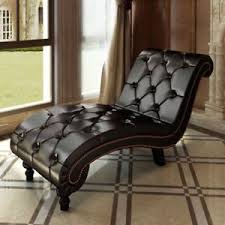 chesterfield chaise lounge daybed tufted button contemporary brown