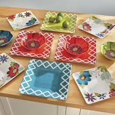 12 avery floral melamine dinnerware set from seventh avenue