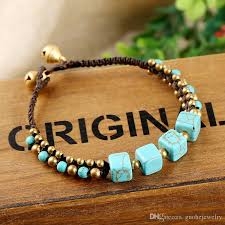 diy simple bracelet images New bohemian bead bracelet simple natural turquoise bracelets diy jpg