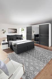 novel schlafzimmer boxspringbett esposa in anthrazit komfortabel und modern