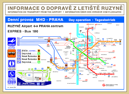 Prague Subway Map by Prague Airport To Metro Map Prague U2022 Mappery